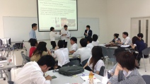 Delivering a Marketing Strategy seminar at Thai-Nichi Institute of Technology
